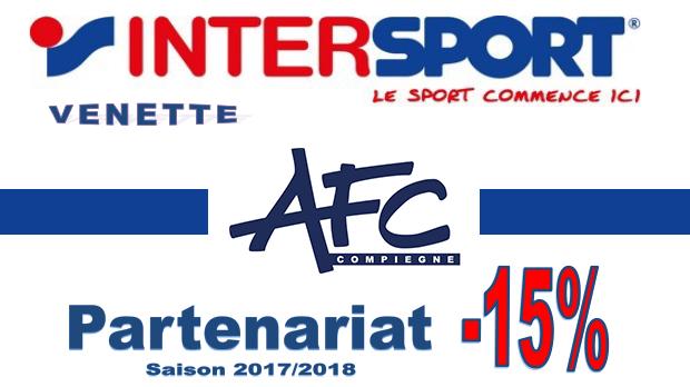 Partenariat AFC Compiègne - Intersport Venette