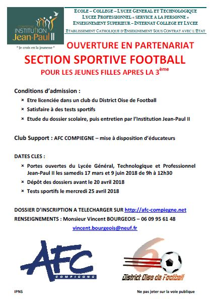 FLYER Section sportive foot AFC JP2